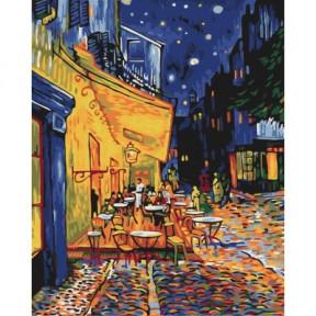 Ночное кафе в Арле. Ван Гог BrushMe холст на подрамнике 40x50см BS51338