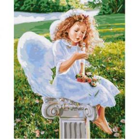 Маленький ангел BrushMe холст на подрамнике 40x50см GX31186