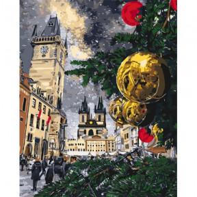 Рождественские каникулы Картина по номерам Идейка холст на подрамнике 40x50см КНО3562