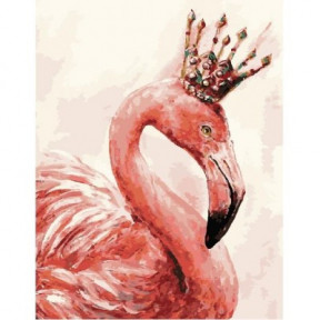 Королевский фламинго BrushMe холст на подрамнике 40x50см GX4352