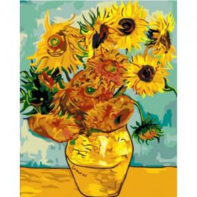 Подсолнухи Ван Гог Картина по номерам Идейка холст на подрамнике 40x50см КНО098