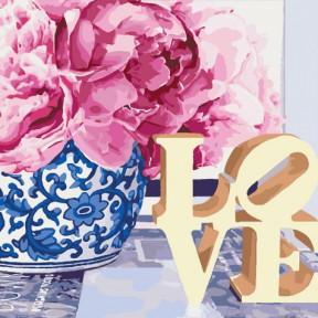 Love Картина по номерам Идейка холст на подрамнике 40x40см КНО3030