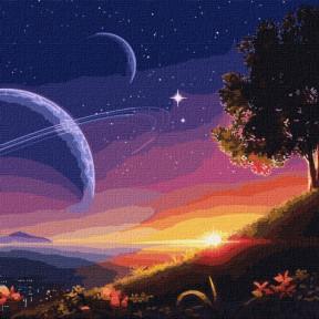 Путь в космос Картина по номерам Идейка подарочная упаковка 50x50см КНО9545