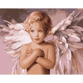 Ангел удачи Картина по номерам Идейка холст на подрамнике 40x50см КНО2315