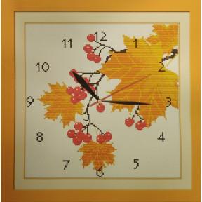 Часы золотая пора Набор для вышивания крестом с печатью на ткани NKF G 069