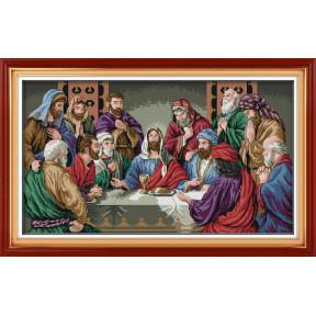 Тайная вечеря Набор для вышивания крестом с печатью на ткани NKF R 233