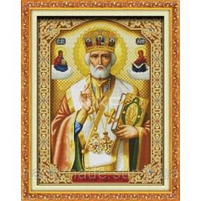 Святой Николай с книгой Набор для вышивания крестом с печатью на ткани NKF R 242