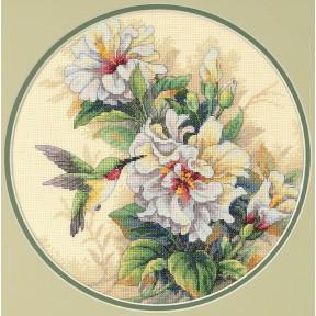 Набор для вышивания крестом Classic Design Колибри и гибискус 4339