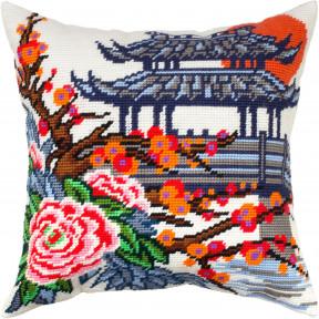 Японский сад Набор для вышивки подушки Чарівниця V-334