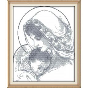 Мадонна с младенцем Набор для вышивания крестом с печатью на ткани NKF R 716