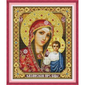 Казанская Божья Матерь Набор для вышивания крестом с печатью на ткани NKF R 266/4