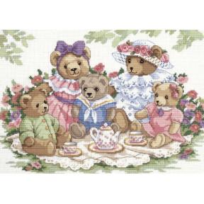 Набор для вышивания крестом Classic Design Чайная вечеринка 4345
