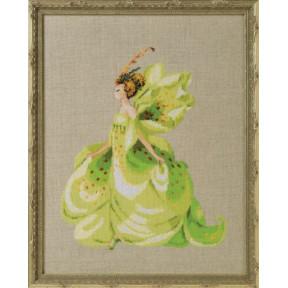 Green Lady Slipper / Зеленая леди Nora Corbett Схема для вышивания крестом NC273