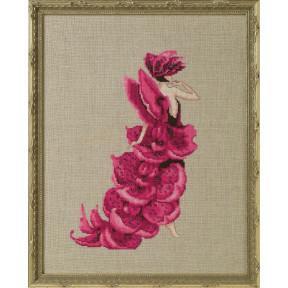 Lady Orchid Moth / Леди Орхидея Nora Corbett Схема для вышивания крестом NC274