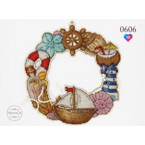 """Набор для вышивки крестом на деревянной основе ФрузелОк """"Морской"""" 0606"""