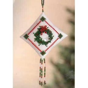 Венок с зимними птицами Mill Hill Набор для вышивания крестом MHTD27