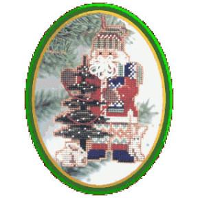 Санта с елкой Mill Hill Набор для вышивания крестом MHNS3