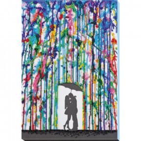 Дождь для влюбленных Набор для вышивки бисером Абрис Арт АВ-820