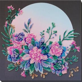 Лунные цветы Набор для вышивки бисером Абрис Арт АВ-824