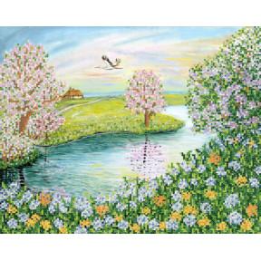 Цветущая весна  Рисунок на ткани Марічка  РКП-649