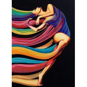 Экспрессия танца Рисунок на ткани Марічка  РКК-048
