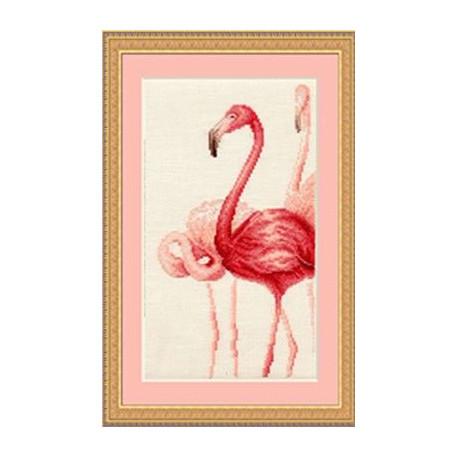 Набор для вышивки крестом Золотое Руно Ф-004 Фламинго 3 фото