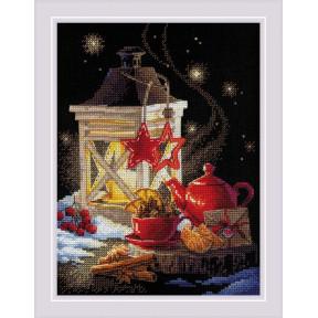 Зимний чай Набор для вышивания крестом Риолис 1977