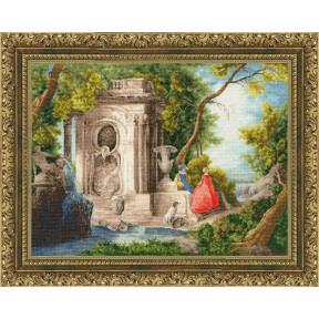 Сцена в парке 1740 г. Набор для вышивки Золотое Руно МК-056