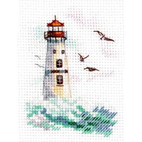 Море волнуется. Белый маяк Набор для вышивки крестом Алиса  0-223