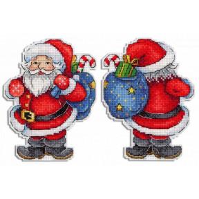 Веселый Санта Набор для вышивки крестом МП Студия Р-584