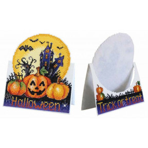 Открытка Хэллоуин Набор для вышивки крестом МП Студия Р-586