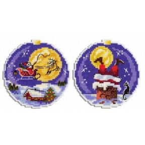 Санта Набор для вышивки крестом МП Студия Р-690