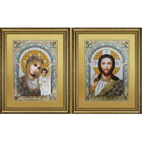 Набор для вышивания Картины Бисером Венчальная пара. Икона Божьей Матери Казанская. Икона Господь Вседержитель   Р-428