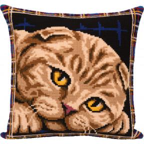 Подушка. Шотландская кошка Набор для вышивки крестом Panna ПД-7123