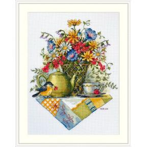 Чай из полевых цветов Набор для вышивания крестом К-198