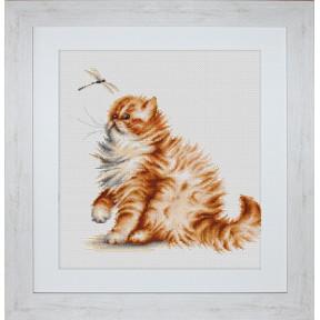 Набор для вышивки Luca-S Кошка со стрекозой B2270