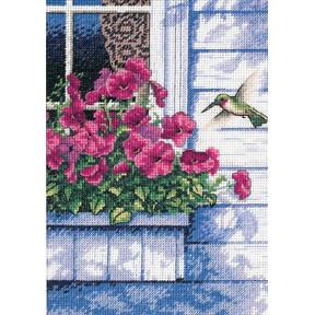 Колибри у окна Набор для вышивания крестом Classic Design 4504