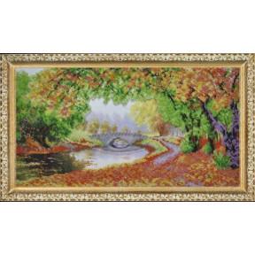 Набор для вышивания Картины Бисером Р-080 Осени краски