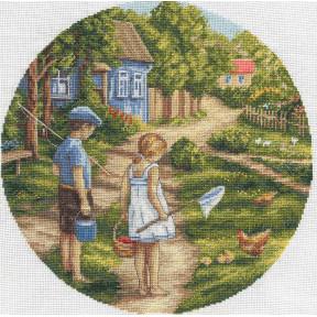 Дорогой детства Набор для вышивки крестом Panna D-1570