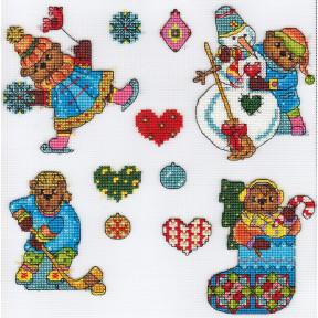 Елочные игрушки.Мишки Набор для вышивки крестом Panna IG-1613
