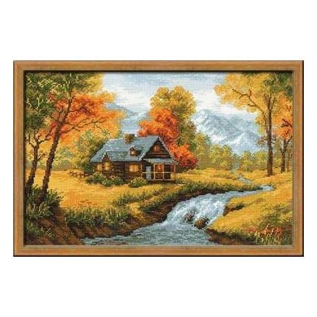 Набор для вышивки крестом Риолис 1079 Загородный пейзаж.Осень