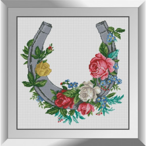 Набор алмазной живописи Dream Art Подкова с цветами 31583D