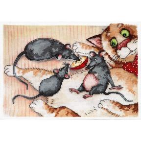 Набор для вышивки крестом Alisena 5047а Кот и мышки