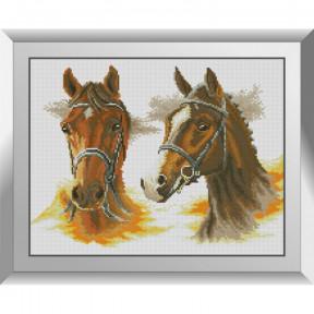 Набор алмазной живописи Dream Art Две лошади 31607D