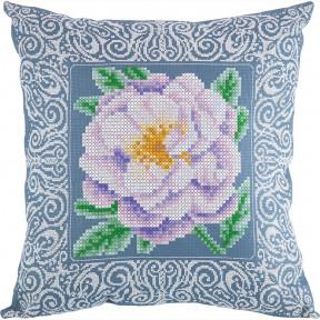 Бархатная роза (Подушка) Набор для вышивки крестом Panna ПД-1904