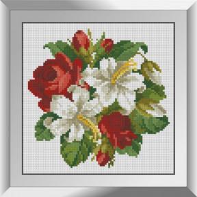 Набор алмазной живописи Dream Art Букетик лилий с розами 31621D