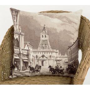 Старая Москва. Ильинские ворота (Подушка) Набор для вышивки крестом Panna ПД-1902