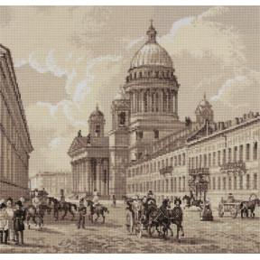 Старый Петербург. Исаакиевский собор Набор для вышивки крестом Panna GM-1908