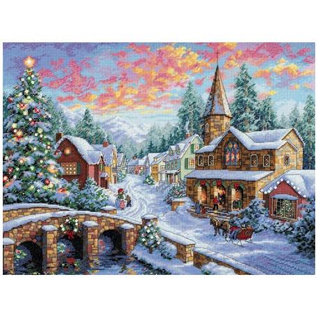 Набор для вышивки крестом Dimensions 08783 Holiday Village фото