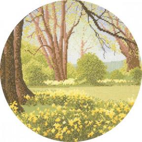 Daffodil Wood Набор для вышивания крестом Heritage Crafts H241